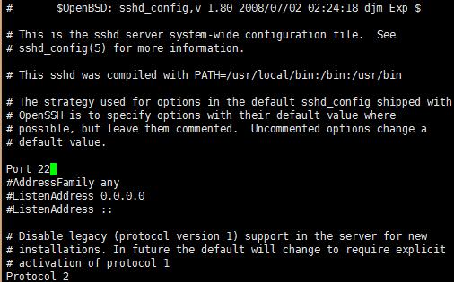 CentOS修改SSH 22端口号